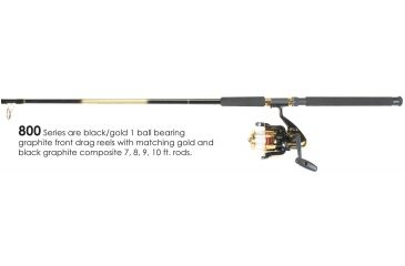 Master Rod Sw Spin 8ft. 0in. 2Pc 1Bb W/Line 846261