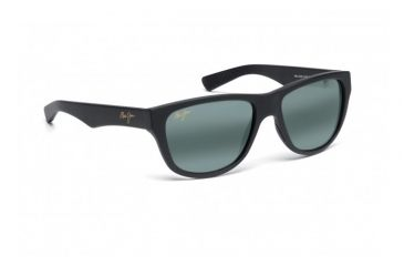 Maui Jim Maui Cat III Sunglasses w/ Matte Black Rubber Frame and Neutral Grey Lenses - 209-2M, Quarter View