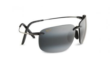Maui Jim 526 02 Olowalu Black And Gunmetal Frame Grey Lens Sunglasses
