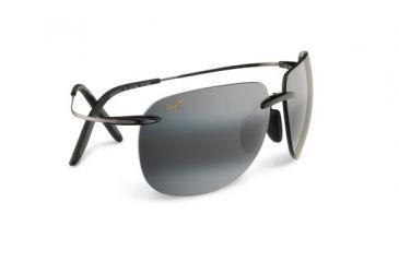 Maui Jim 527 02 Nakalele Black And Gunmetal Frame Grey Lens Sunglasses