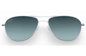 Maui Jim Baby Beach Sunglasses - Silver Frame, Neutral Grey Lenses - GS245-17