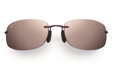 Maui Jim Honolua Bay Sunglasses - Burgundy Frame, Maui Rose Lenses - R516-07