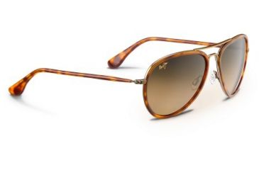 Maui Jim Honomanu Sunglasses - Antique Gold Frame and HCL Bronze Polarized Lens HS260-16C