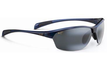 Maui Jim Hot Sands Sunglasses, Black w/Blue, Grey Lenses, Black w/Blue 426-03