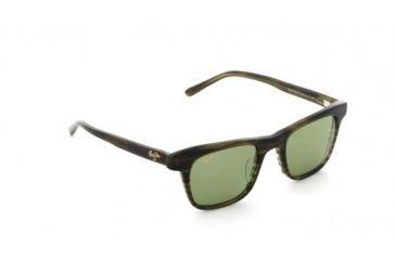 710450728b Maui Jim Ht241 15c Aloha Friday Olive Stripe Frame Grey Lens Sunglasses