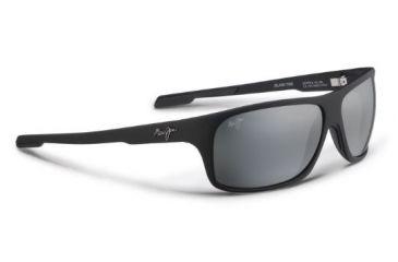 a73db925c52 Maui Jim Island Time Sunglasses w  Matte Black Rubber Frame and Neutral  Grey Lenses -