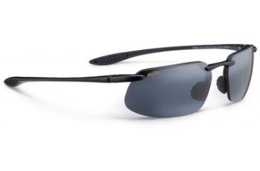 Maui Jim Kanaha Sunglasses - Gloss Black Frame,Polarized Neutral Grey Lens 409N-02