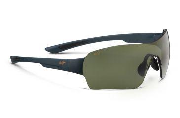 59403ff5cc Maui Jim Night Dive Sunglasses,Shield,Matte Aquamarine Frame,Polarized Maui  HT Lens