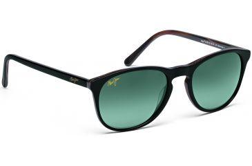 Maui Jim Pau Hana Sunglasses w/ Black w/ Dark Brown Horn Frame and Neutral Grey Lenses - GS238-02B