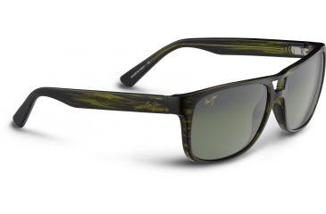 Maui Jim Waterways Sunglasses, Olive Stripe, Maui HT Lenses, Olive Stripe HTS267-15C