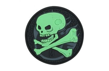 Maxpedition Skull Patch, Glow, 2.5in x 2.5in SKULZ