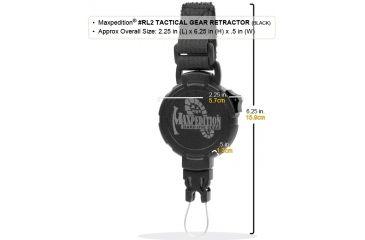 Maxpedition Tactical Gear Retractor Strap, Khaki, Large RL2K