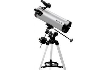 Meade 114EQ-ASTR F/8.8 4.5in 114mm Equatorial Reflector Telescope w/ Autostar Suite Software, Red Dot Finderscope, two Eyepieces, Tripod - 04066