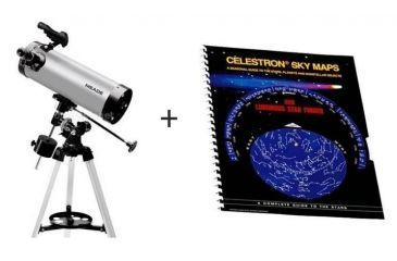 Meade 114EQ-ASTR F/8.8 4.5in 114mm Equatorial Reflector Telescope w/ Celestron Sky Maps Chart