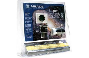 Meade Eyepiece Barlow Lens & Filter Telescope Accessory Kit 07985LF 3-PC w/ Free S&H