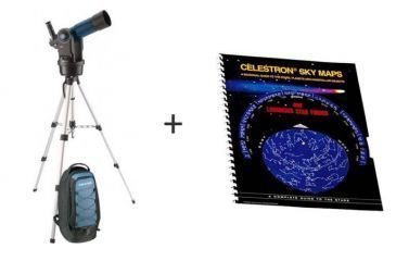 Meade ETX-80 AT-TC-BB Astro Telescope Autostar w/ Celestron Sky Maps Chart