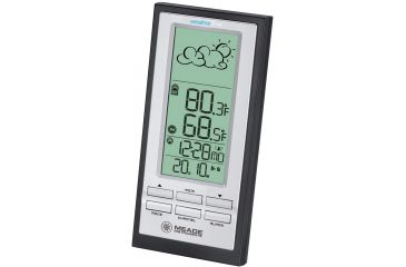Meade Personal Wireless Weather Station w/ Forecaster, Atomic Clock TE388W