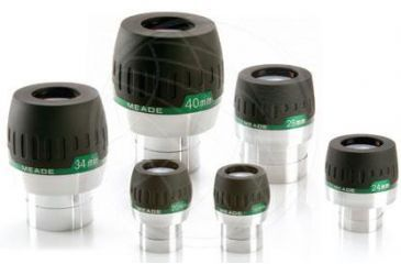 Meade Super Wide Angle Eyepieces Series 5000 68° Apparent Field-of-View 1.25'' Barrel Size