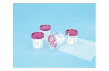 Medegen Medical Specimen Containers, Polypropylene, with Caps PC8827-501 Nonsterile, Bulk Packaging