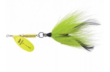 Mepps Musky Killer 3/4oz. - Hot Chartreuse/Chartreuse Tail 488601