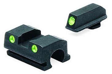 Meprolight Night Sights - Green Front and Rear for Walther PPS