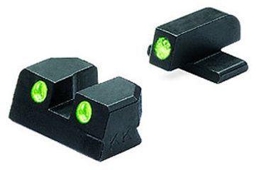 Meprolight Night Sights for Sig P238 Handgun - green-green (No.6 front and rear)