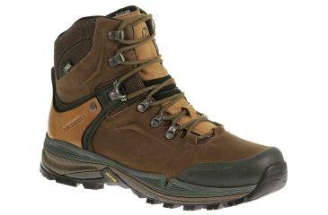 a934608074a Merrell Crestbound Gore-Tex Backpacking Boot - Mens-Dorado/Forest Green -Medium
