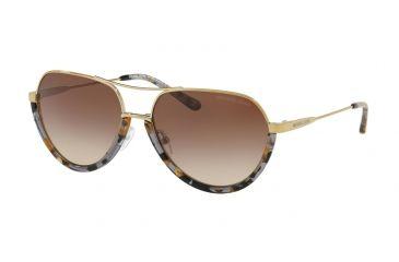 0b9234616b67 Michael Kors AUSTIN MK1031 Sunglasses 102413-58 - Black/shiny Pale Gold-tone