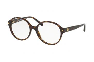 cba349b87676 Michael Kors MK4041F Single Vision Prescription Eyeglasses 3006-53 - Dk  Tortoise Frame