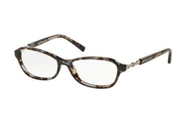 58fe685c16e Michael Kors SABINA V MK8019 Eyeglass Frames 3107-51 - Black Tortoise Silver  Frame
