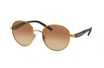 76873908395b Michael Kors SADIE III MK1007 Sunglasses 100413-52 - Gold Frame, Smoke  Gradient Lenses