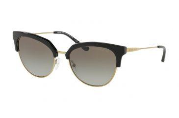 f6fd714c573d Michael Kors SAVANNAH MK1033 Sunglasses 32698E-54 - Black/shiny Pale  Gold-tone