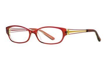 Michael Stars MS Casual Chic SEMS CASU00 Eyeglass Frames - Plum Stain SEMS CASU005235 RD