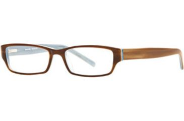 Michael Stars MS Devious SEMS DEVI00 Single Vision Prescription Eyewear - Teak Blue SEMS DEVI005145 BN