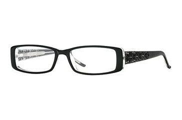 Michael Stars MS Poetic SEMS POET00 Eyeglass Frames - Black SEMS POET004830 BK
