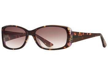 Michael Stars MS Tranquil SEMS TRAN06 Single Vision Prescription Sunglasses SEMS TRAN065532 TO - Lens Diameter 57 mm, Frame Color Amber Swirl, Lens Diameter 51 mm