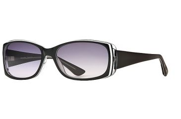Michael Stars MS Tranquil SEMS TRAN06 Bifocal Prescription Sunglasses SEMS TRAN065532 BK - Lens Diameter 57 mm, Frame Color Black Lucite, Lens Diameter 51 mm