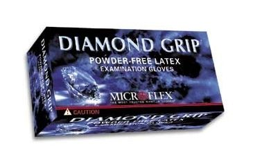 Microflex Diamond Grip Latex Gloves, Microflex MF-300-L Large
