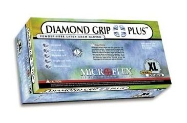 Microflex Diamond Grip Plus Latex Gloves, Microflex DGP-350-XL