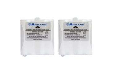 Midland Radio Two-way Radio Battery, 600 mAh, Nickel Metal Hydride (NiMH), 4.8 V DC AVP8MID