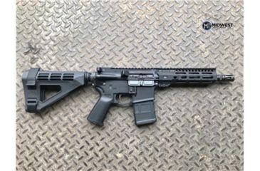 19-Midwest Industries AR-15 Free Float 1-Piece Combat Rail Handguard