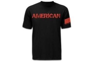 Mission First Tactical American T-Shirt, Black, Small MFTAMT-BL-S