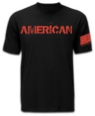 Mission First Tactical American T-Shirt, Black, Medium MFTAMT-BL-M