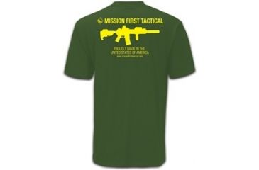 Mission First Tactical American T-Shirt, Olive Drab, Small MFTAMT-OD-S