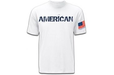 Mission First Tactical American T-Shirt, White, Small MFTAMT-WH-S