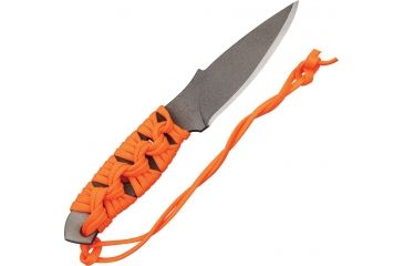 Mission MBK-Ti Fixed Blade Knife,4in,Standard Edge Spear Point Blade,Skeletonized Handle/Orange Cord Wrap MS0310