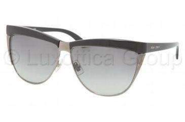 Miu Miu MU 11LS Sunglasses Styles Gloss Black Frame / Gray Gradient Lenses, 1AB5D1-6111