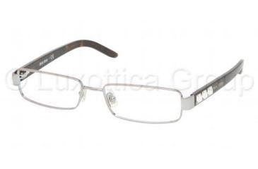 Miu Miu MU 58GV Eyeglasses Styles Gunmetal Frame w/Non-Rx 52 mm Diameter Lenses, 5AV1O1-5216