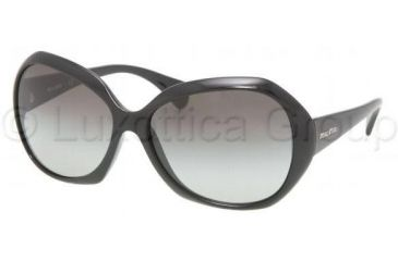 Miu Miu MU08LS Sunglasses 1AB5D1-6115 - Gloss Black Gray Gradient