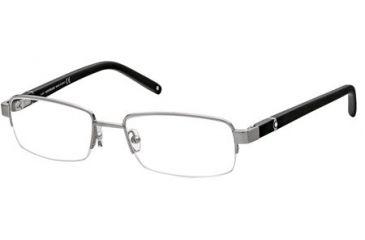 Mont Blanc MB0385 Eyeglass Frames - Shiny Light Ruthenium Frame Color